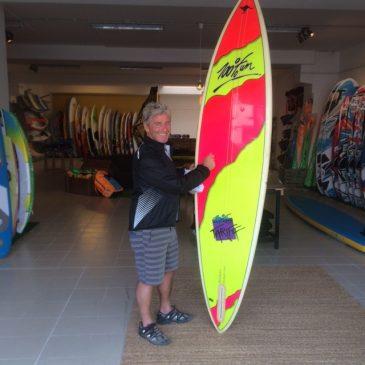 Un pedazo de la historia del windsurf con Barry en Sportlink Tarifa