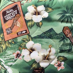 fundas asiento coche hawaianas_verde flores