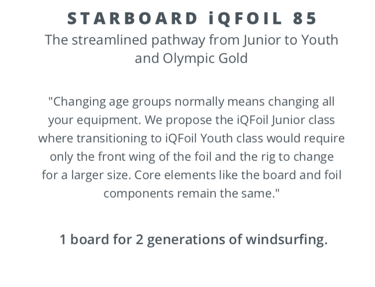 Starboard iQFoil 85 package