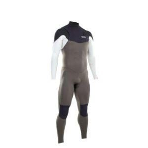 ION Wetsuit Element Semidry 4/3 Olive White Black