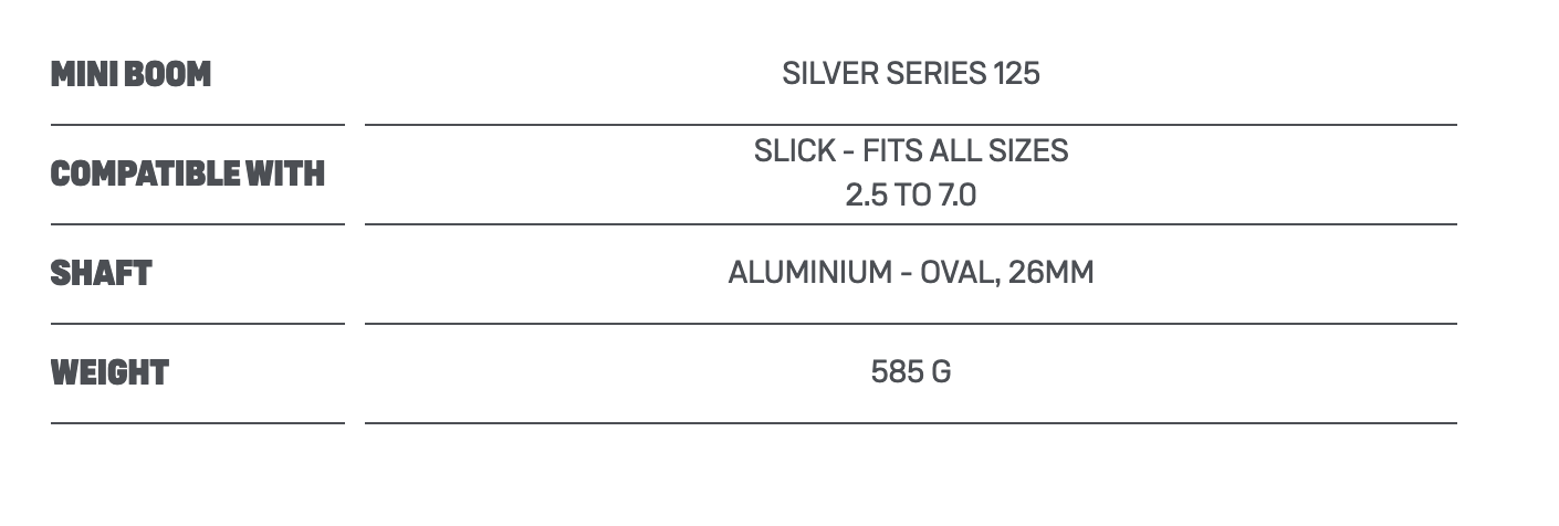 Duotone Foil Miniboom Silver