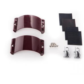 Unifiber 2x Clamcleat CL244/S1 Aubergine Strap, 4x Screws, 4x Rubber